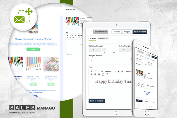 Problems with email responsiveness? That's our ultimate solution – New, revolutionary drag&drop email designer in SALESmanago!