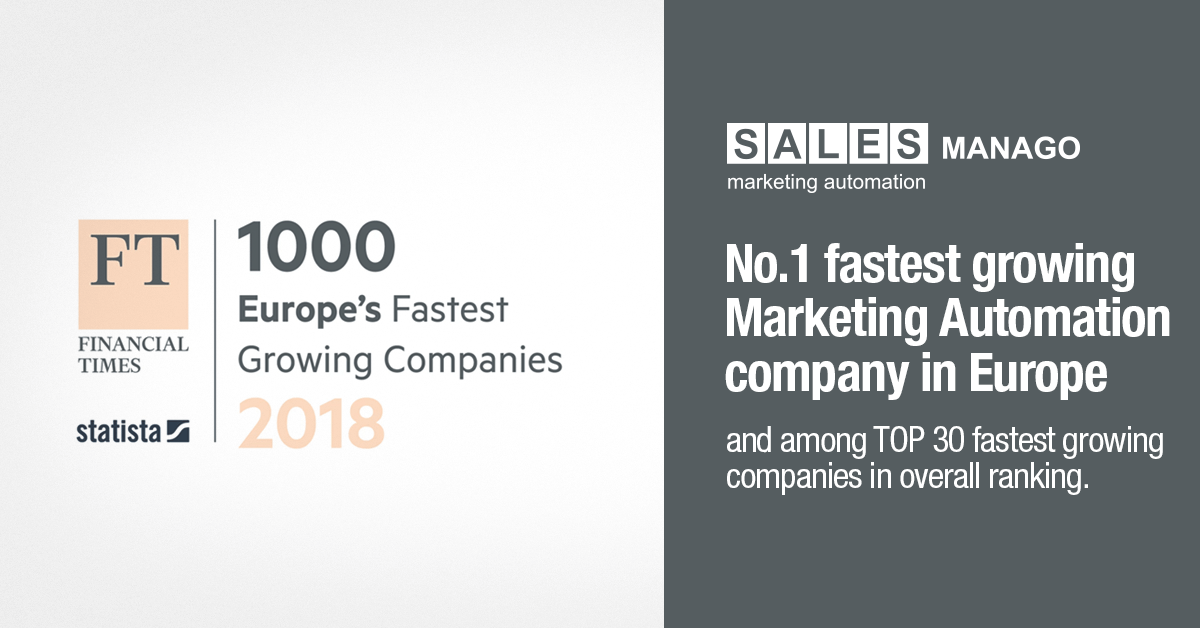 FT1000: SALESmanago fastest growing European marketing automation