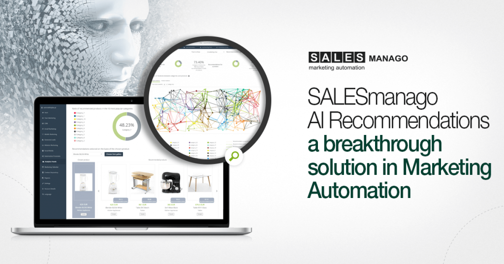 Unleash the full potential of Artificial Intelligence with the new SALESmanago Copernicus analytics dashboard, AI Recommendations