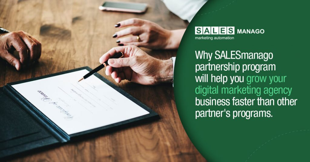 Why SALESmanago partnership program will help you grow your digital marketing agency business faster than other partner's programs in the marketing software industry