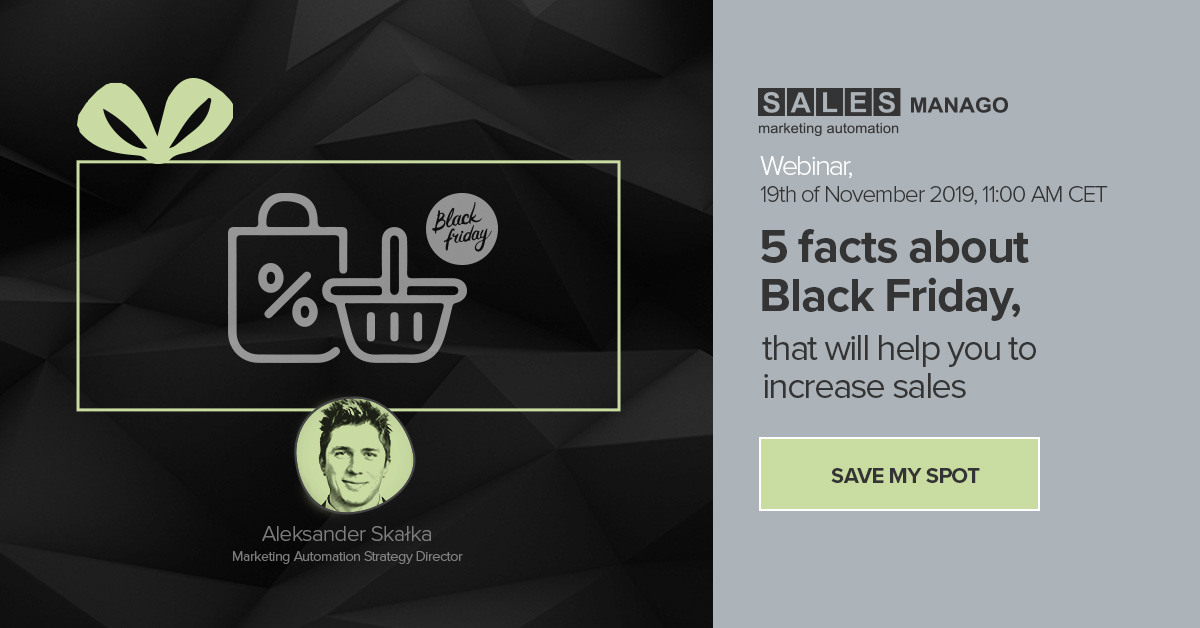 [Webinar] 5 facts about Black Friday, that will help you to increase sales