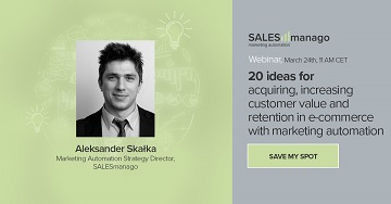 [Webinar] 20 ideas for acquiring, increasing customer value and retention in e-commerce with marketing automation