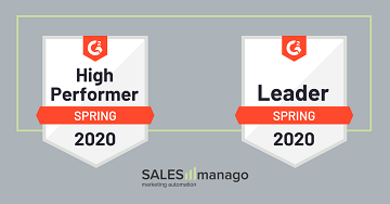 SALESmanago is a leader in the Marketing Automation and Personalization categories in the spring G2 ranking