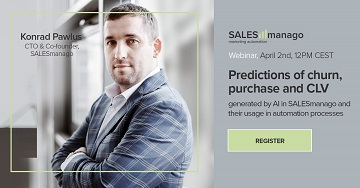 [Webinar] Predictions of churn, purchase and CLV generated by AI in SALESmanago and their usage in automation processes