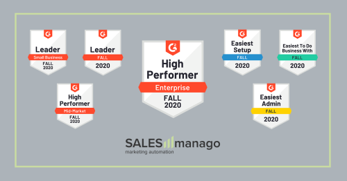 SALESmanago named High Performer in the Enterprise segment in the Marketing Automation category in the latest G2 Crowd Report.