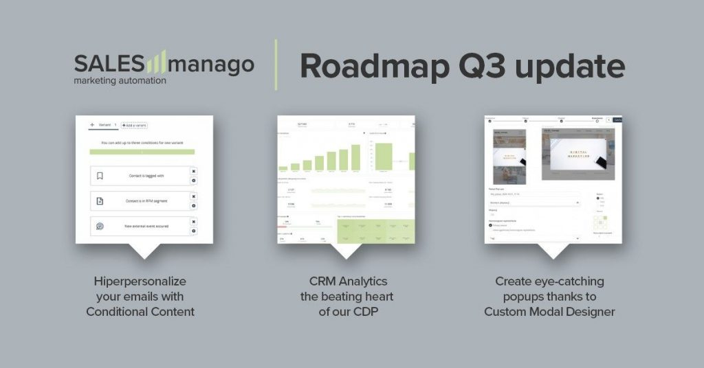 SALESmanago Roadmap Q3: Conditional Content, Custom Modal Designer, and sharing marketing resources between accounts for Enterprise clients