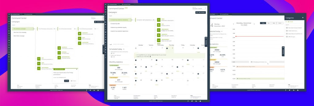 [NEW FEATURE] Command Center sets a new UI standard for the management of KPI-oriented omnichannel, multipurpose, and multitool marketing processes