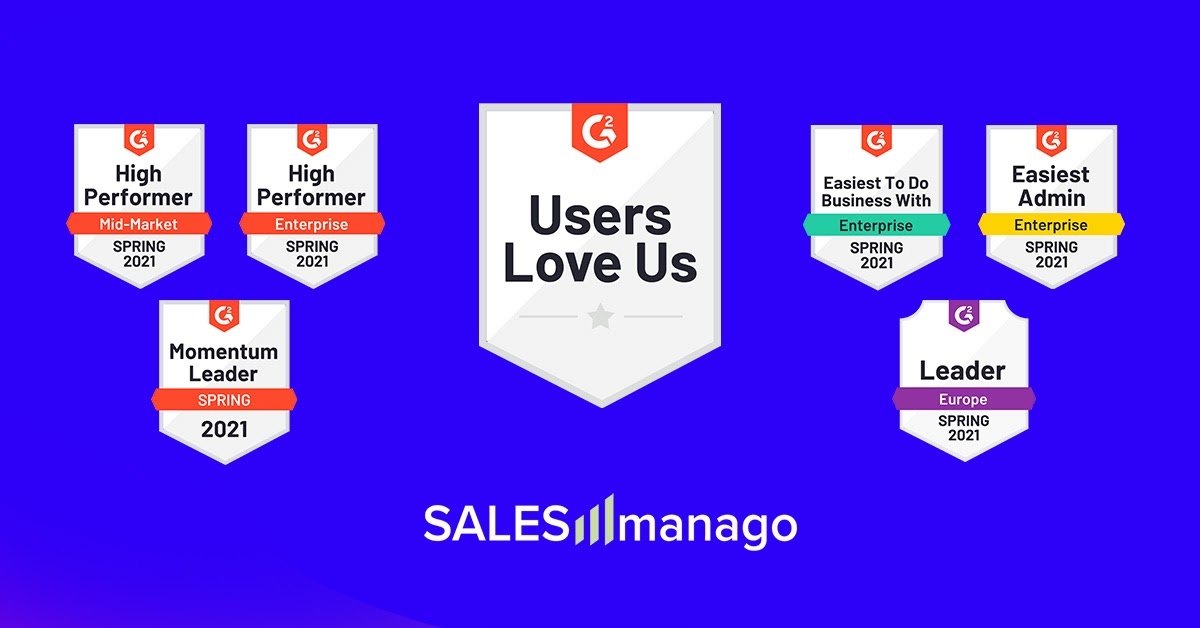 """Users love us"" – SALESmanago once again named High Performer in the Enterprise segment in the Marketing Automation category in the latest G2 Crowd Report."