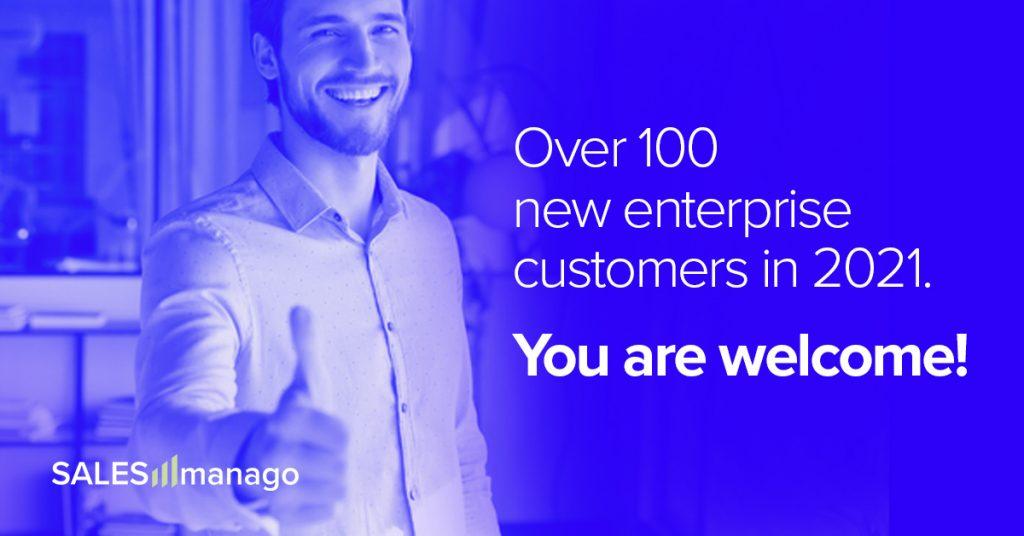 Over 100 Enterprises including Burger King, Havaianas and The Body Shop have chosen SALESmanago